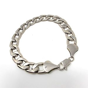.925 Sterling Silver Chain Link Bracelet, Thick